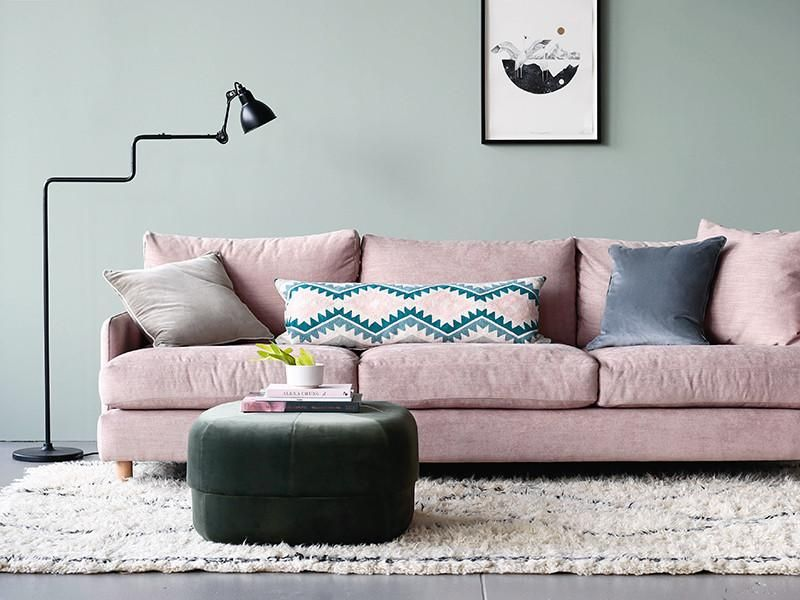 Dwell Sofa In Maison Blush House Lounge Seating