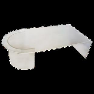 Grande table basse design en altuglass givr granit table basse table de salon design vintage - Meuble plexiglas transparent ...