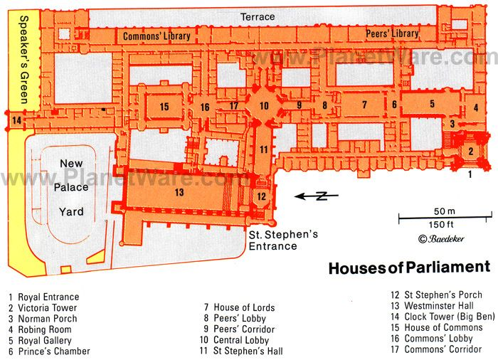 London Houses Of Parliament Floor Plan Map Heraldry