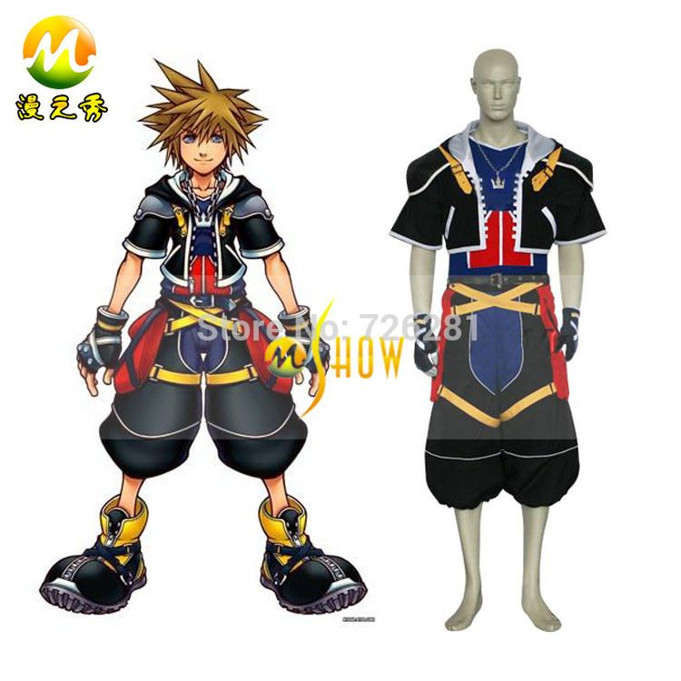 Click to Buy << Anime Kingdom Hearts 2 Sora Cosplay Costume for Adults. >>