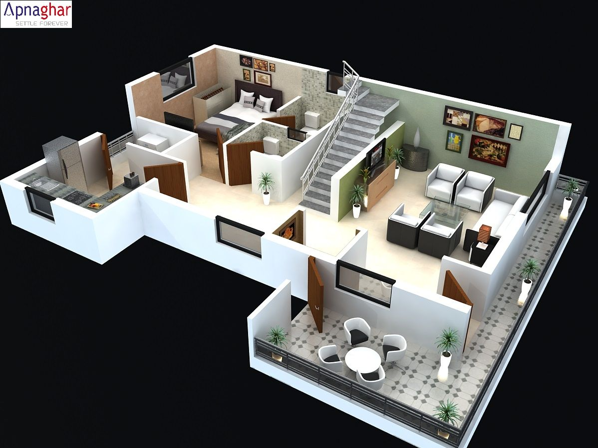 Get 3d Floor Plan For Your House Before Starting Construction Visit Www Apnaghar Small House Interior Design 2 Storey House Design Modern House Floor Plans