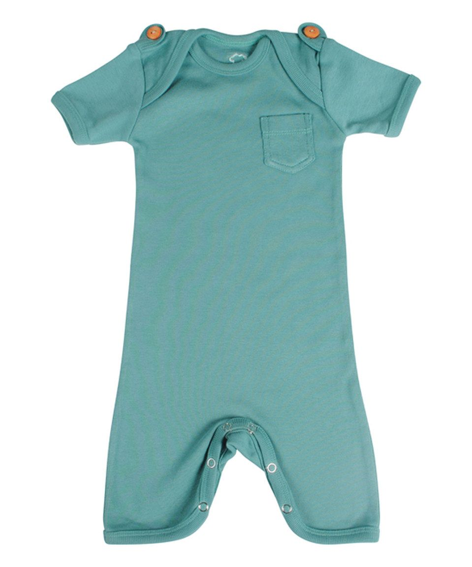 Another great find on #zulily! Sea Green Playsuit - Infant by Those Baby Basics #zulilyfinds
