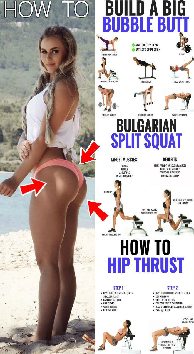 The 14 Best Butt Exercises To Firm Up And Round Your Backside Into Bubble Butt