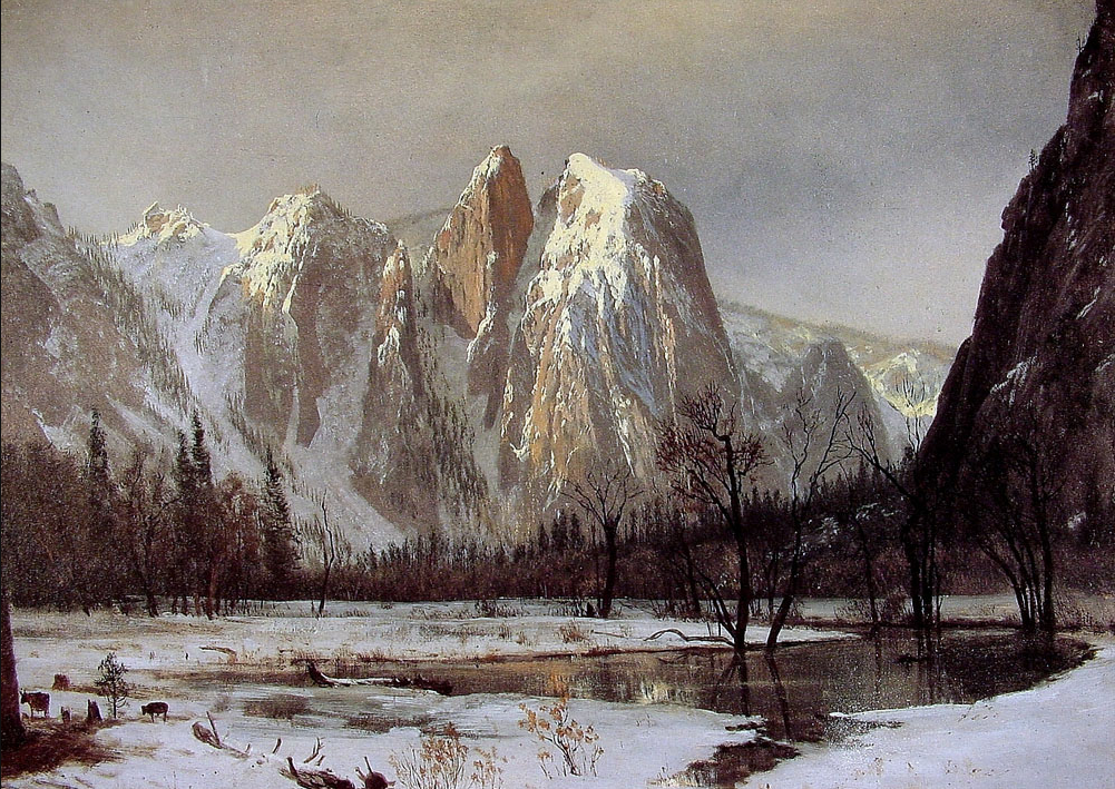 Albert Bierstadt (1830 - 1902) / Cathedral Rock, Yosemite Valley, California, 1872