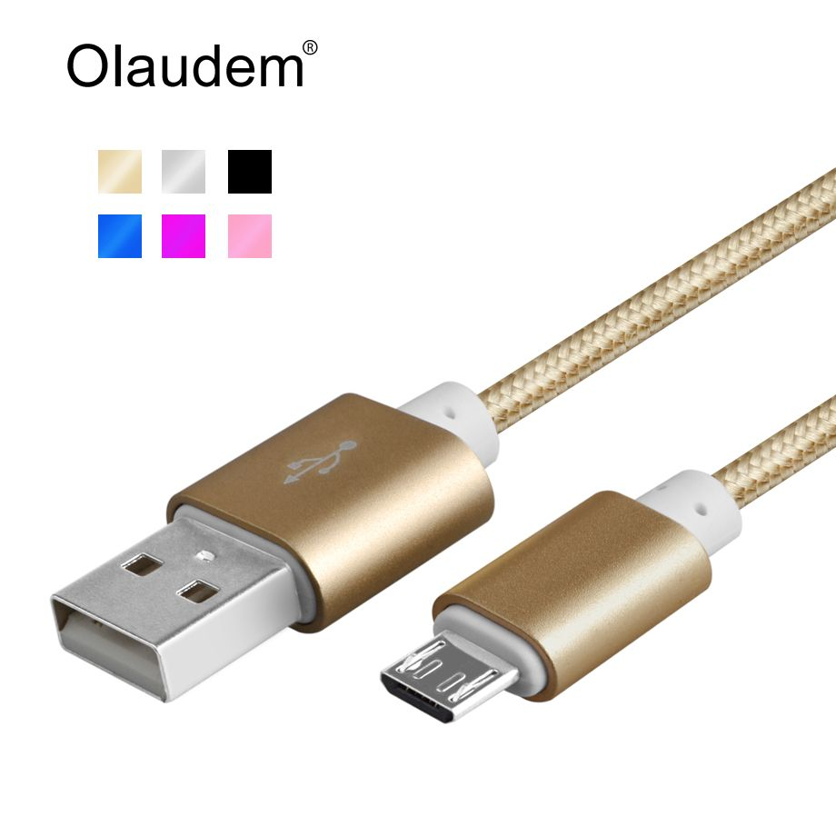 Micro Usb-kabel Nylon Geflochten Micro-USB Kabel Stecker Aluminium ...