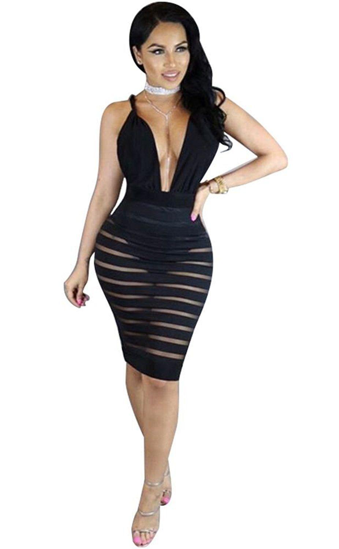 2019 Gold Black Sequins Sheer Mesh Bodycon Dress Summer