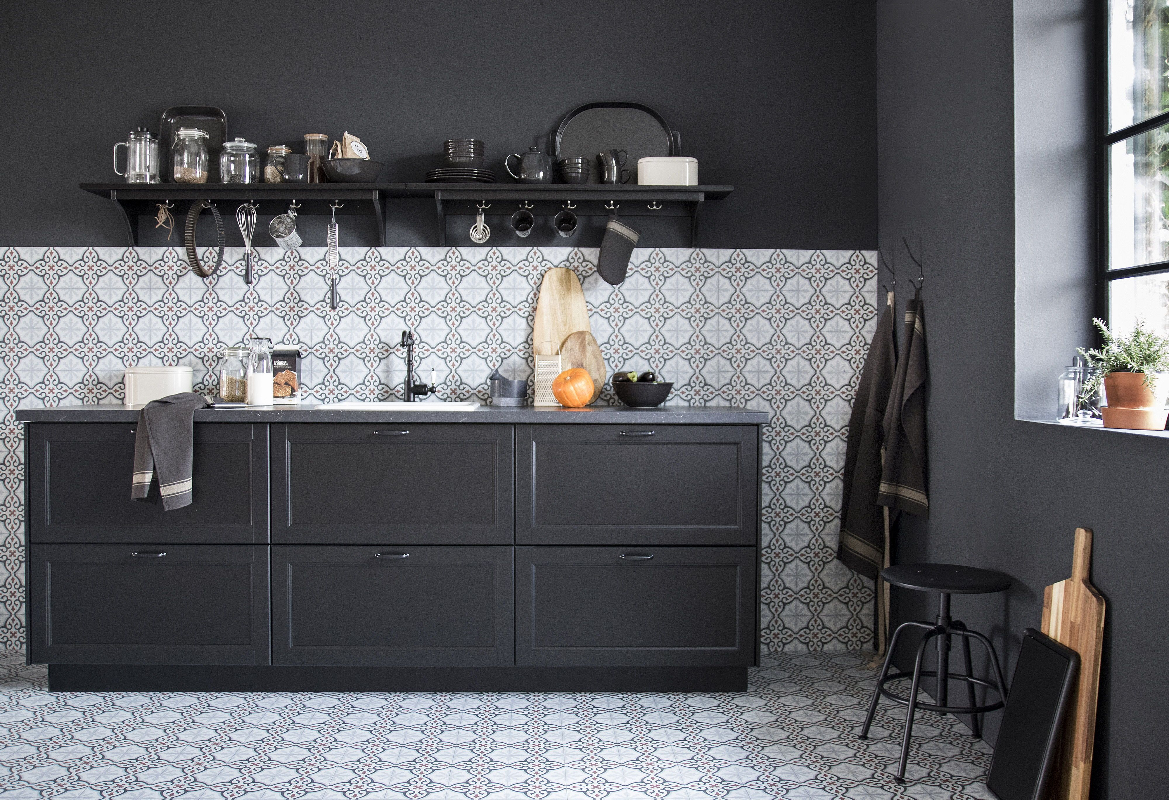 Lerhyttan Keuken Lerhyttan Deur Zwart Gelazuurd In 2019 Kitchen Ikea Kitchen