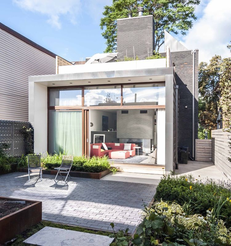 Home Design Addition Ideas: New Toronto Addition With Garden And Roof Terrace