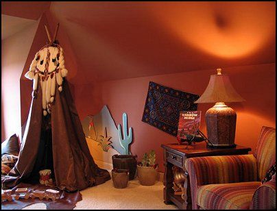 Southwestern - American Indian theme bedrooms - mexican rustic ...