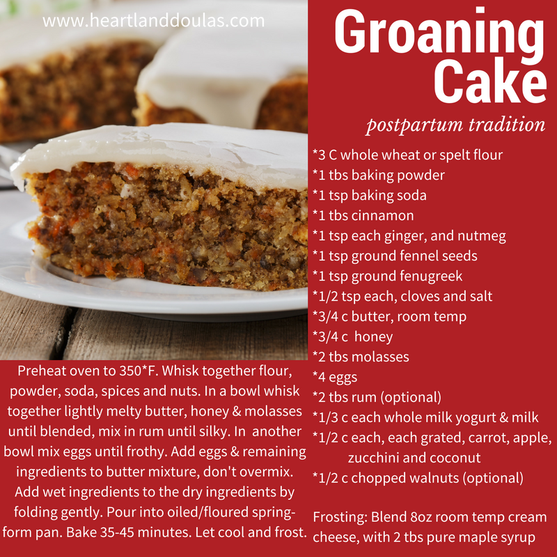 Groaning cake recipes