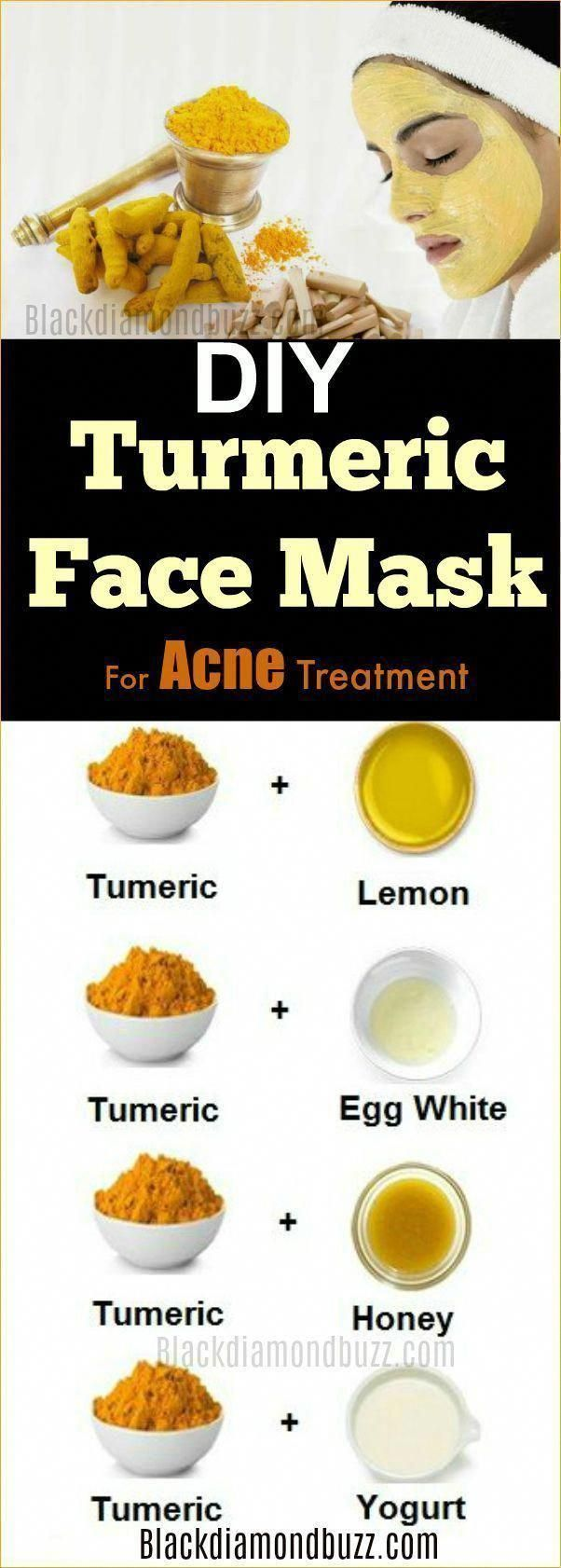 Photo of DIY turmeric face mask for acne treatment dark spots scars and wrinkles …