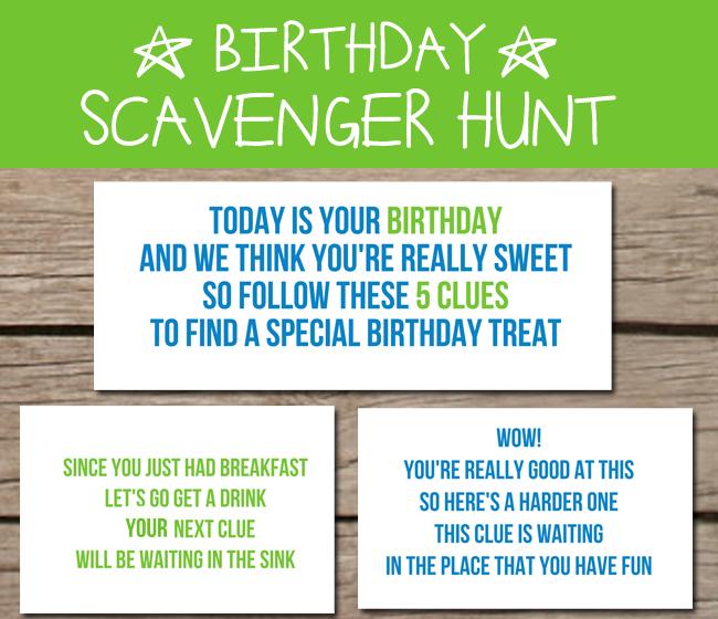 Scavenger Hunt Birthday