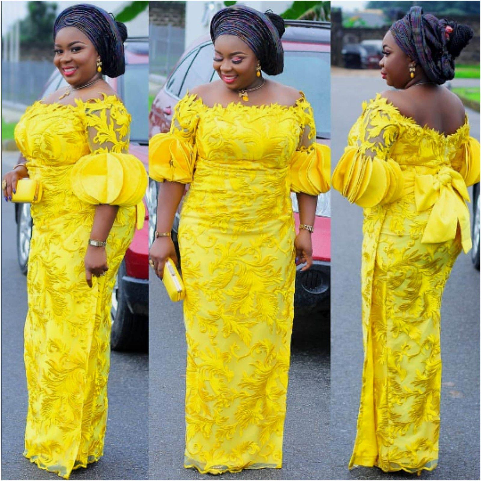 WEDDING GUESTS SLAYING ASOEBI LACE DRESSES | fashenista #nigeriandressstyles