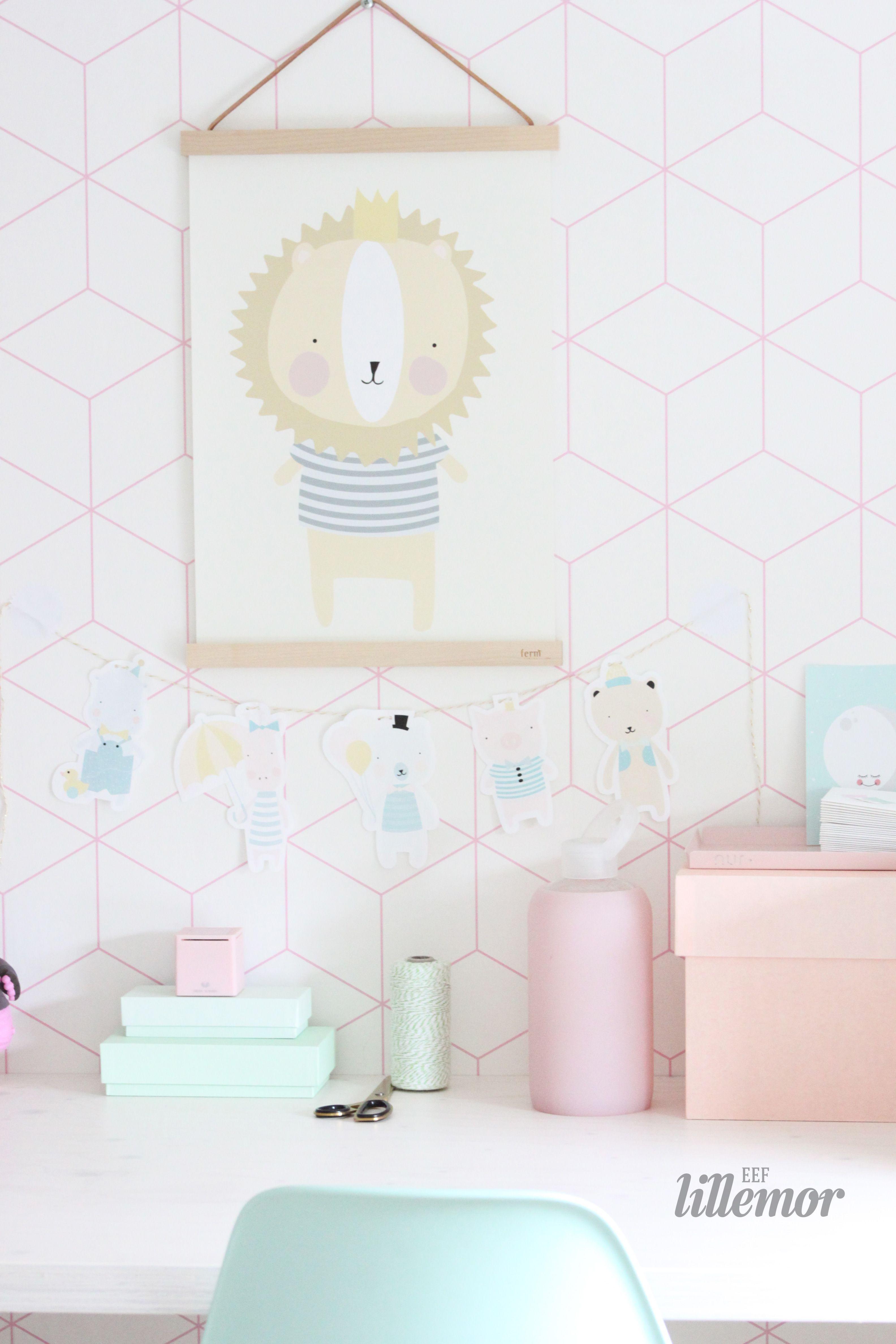 Détail Chambre Du0027enfant Pastelle Et Graphique #eeflillemor #prints #lion # Pastel #nursery #kidsroom