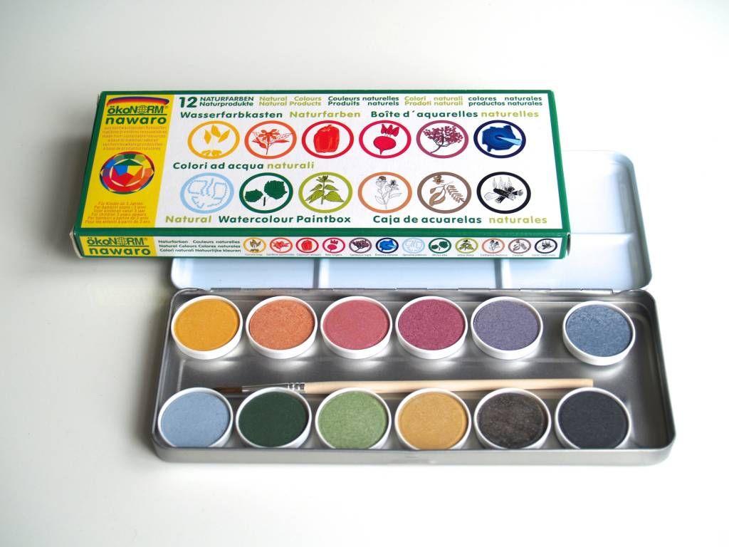 Okonorm Nawaro Waterverf 12 Kleuren Eyeshadow Watercolor