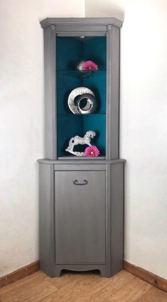 Best Grey And Turquoise Corner Cabinet Perfect For Any Room 400 x 300