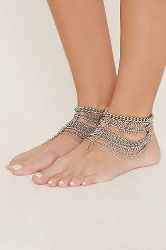Layered Foot Chain Set