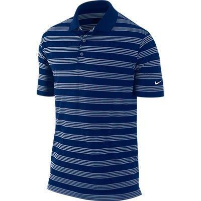 Nike Golf Tech Core Stripe Polo 2013 - College Navy/White/White