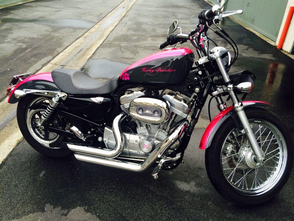Pink harley davidson sportster 883