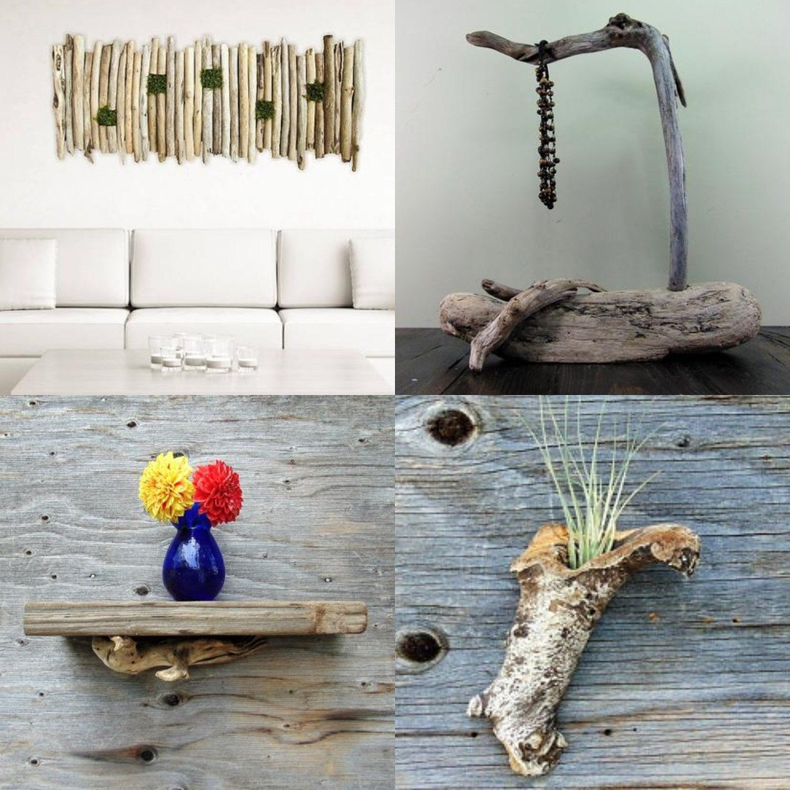 In Stock - Large Driftwood and Moss Wall Hanging Art, Living Wall, Driftwood Hanging Art, Beach ...