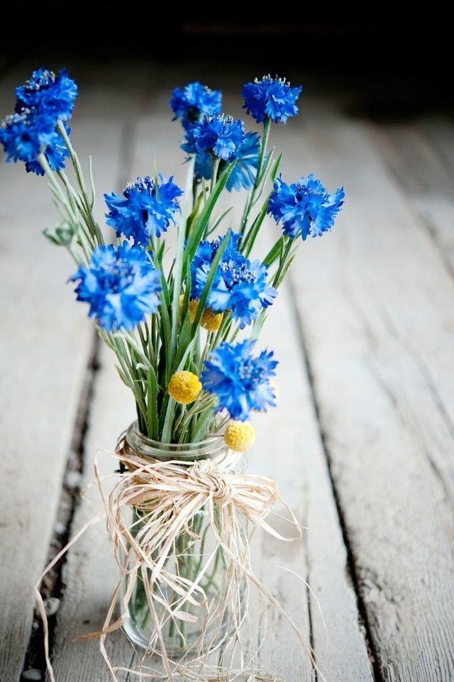 Blumen als Tischdeko  Schlicht und dennoch hbsch