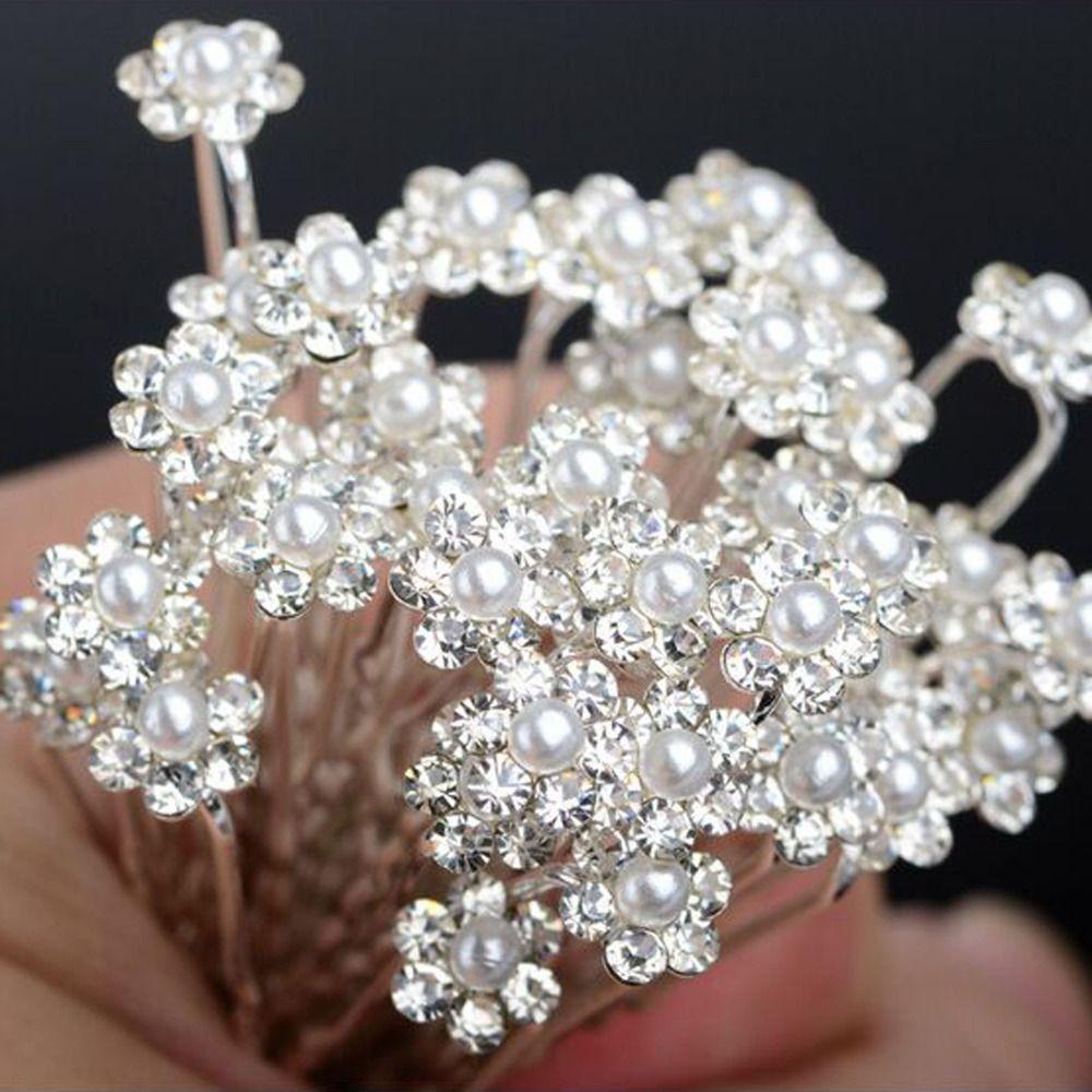 We wedding headpiece jewellery - 40 Pcs U Choisissez Perles Pinces Cheveux Fleur Cristal Pingles Cheveux De La Mode