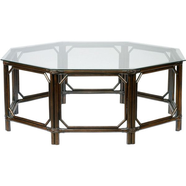 Regeant Octagonal Clove Coffee Table (£910) ❤ liked on Polyvore featuring home, furniture, tables, accent tables, coffee tables, interior, brown furniture, brown coffee table, english furniture and brown table