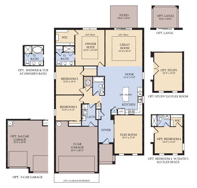 floor plan | compton | new home in sullivan ranch | centex homes