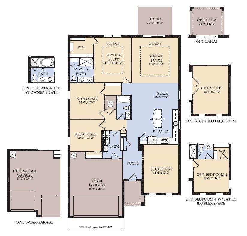 Floor Plan Compton New Home In Sullivan Ranch Centex Homes Floor Plans House Floor Plans Floor Plan Design
