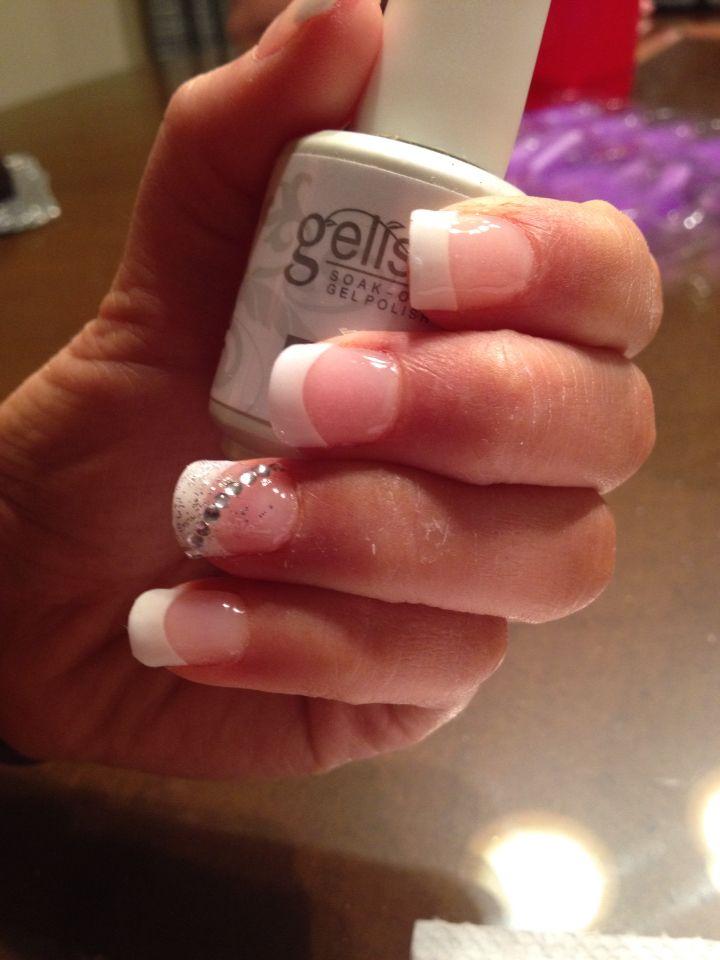 Gelish Acrygel French Tip Beautiful Nail Designs Nail Tips