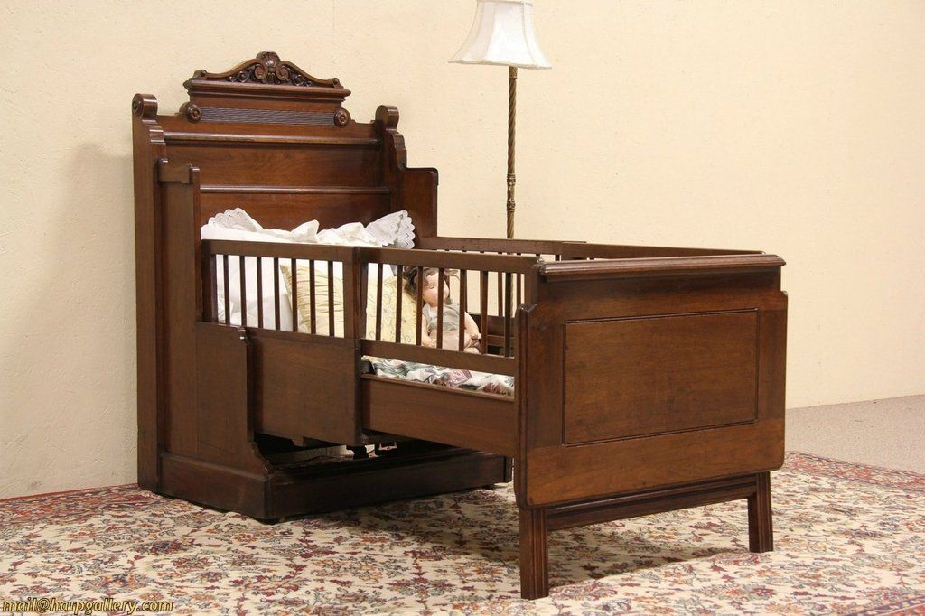 Best Victorian 1885 Antique Cabinet With Folding Child Size Bed 640 x 480