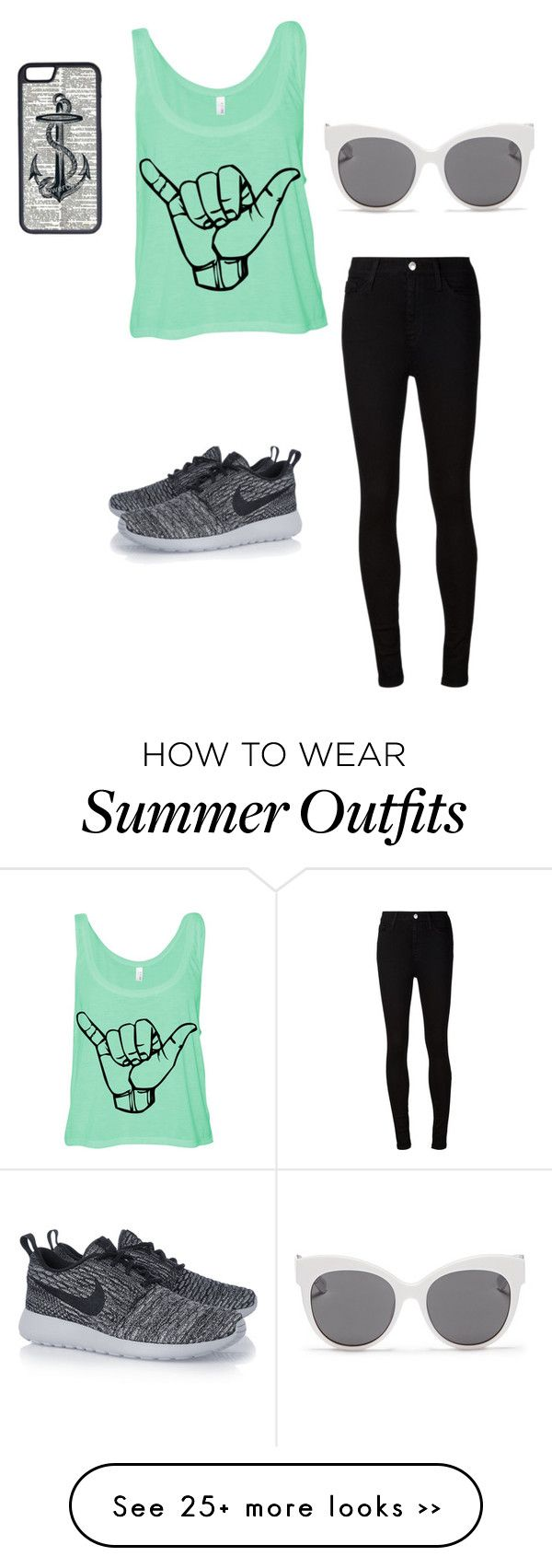 """""""Casual outfits are always the best!"""" by emzy266 on Polyvore featuring AG Adriano Goldschmied, CellPowerCases, Blanc & Eclare and NIKE"""