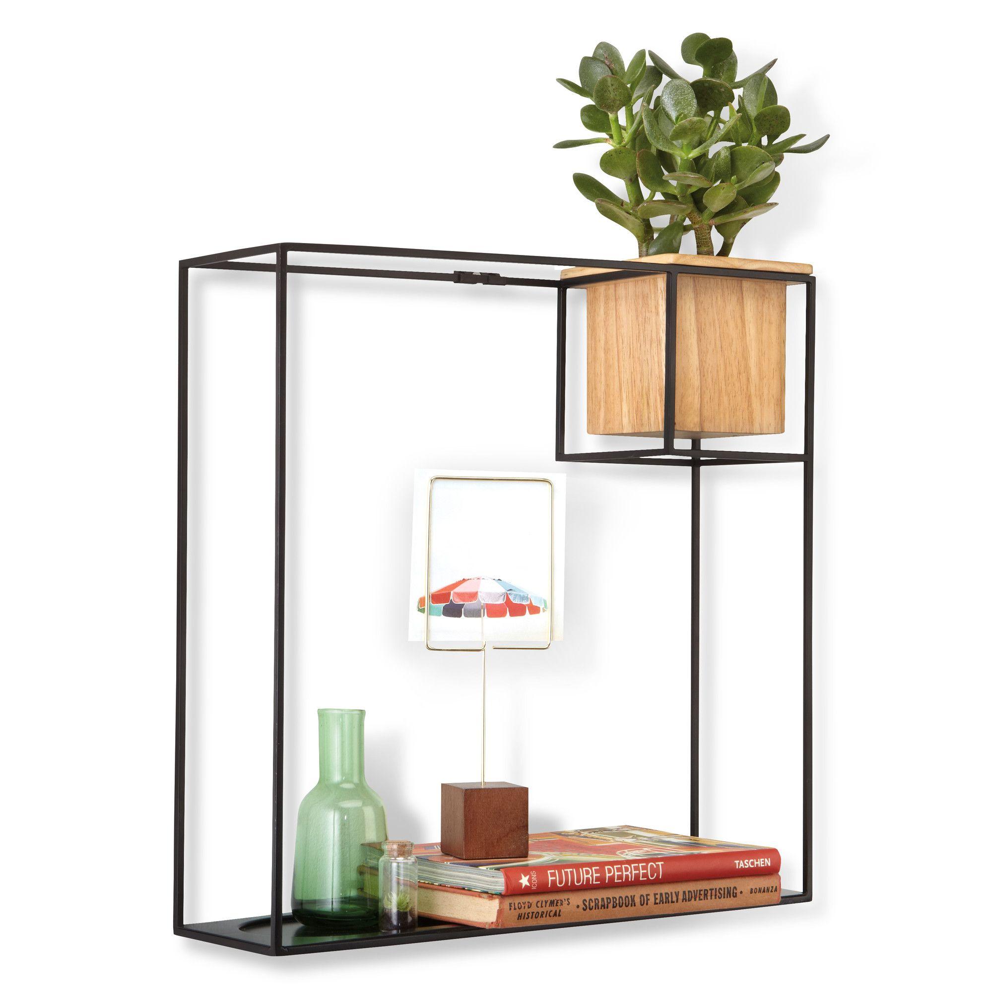 Cubist Floating Wall Shelf With Images Minimalist Shelves
