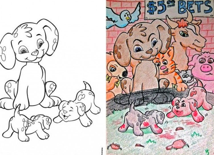 27 innocent images in children s coloring books that transformed