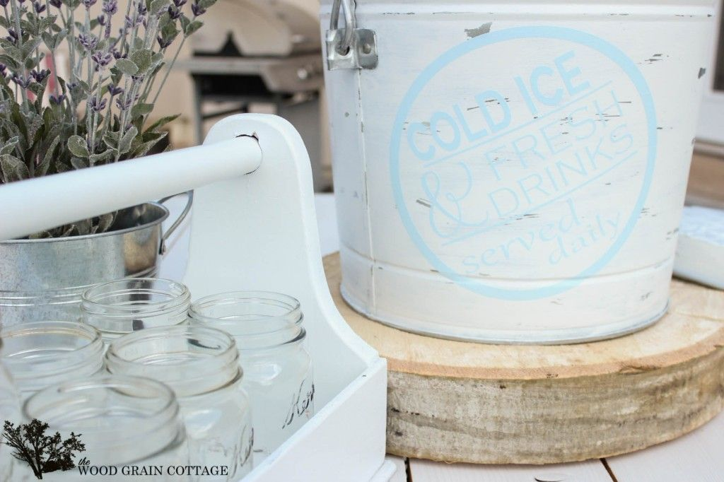 DIY Ice Bucket by The Wood Grain Cottage