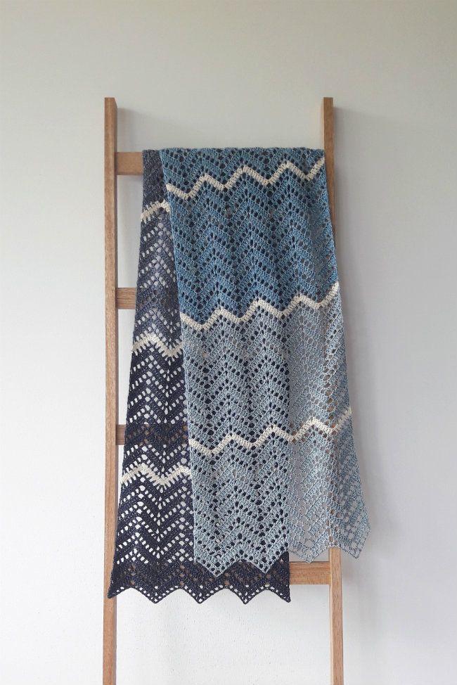 My Brand New Crochet Zig Zag Shawl Sophie Digard Pinterest