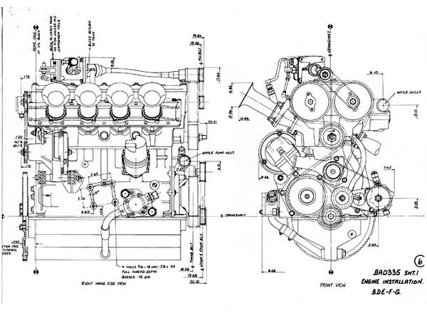 Kuvahaun tulos haulle jaguar v12 engine development Blueprints