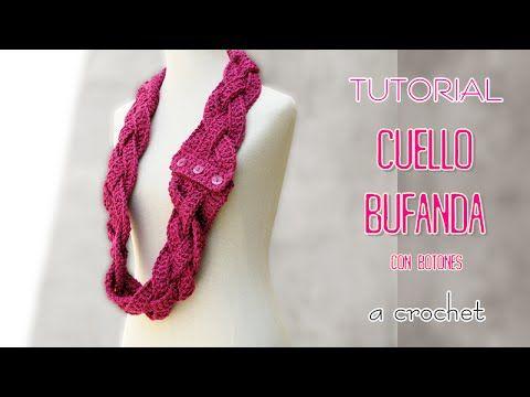 DIY Cuello Bufanda tejida a crochet | TUTORIAL Paso a Paso - YouTube ...