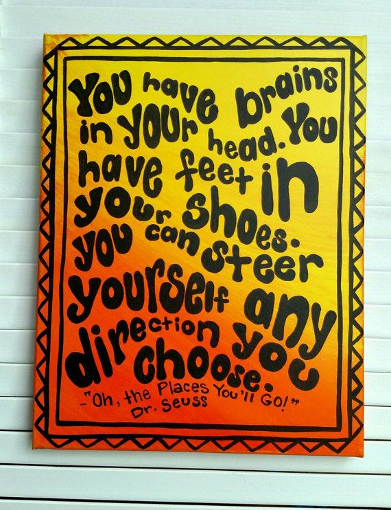 Canvas quote Dr. Seuss quote hand painted by FrankyandJDesigns