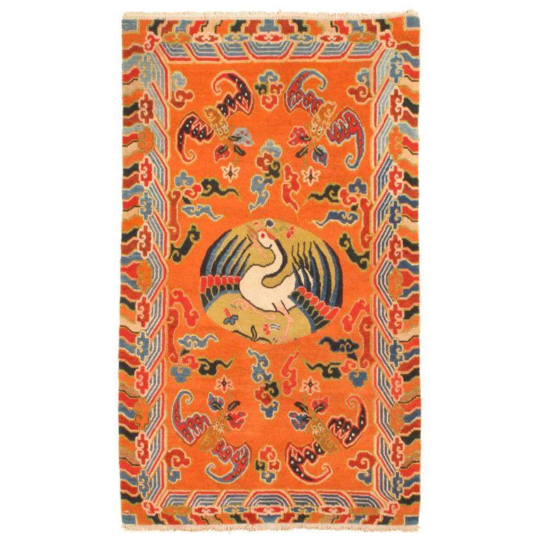 Antique Tibetan Rug: Antique Tibetan Rug - Chudrak