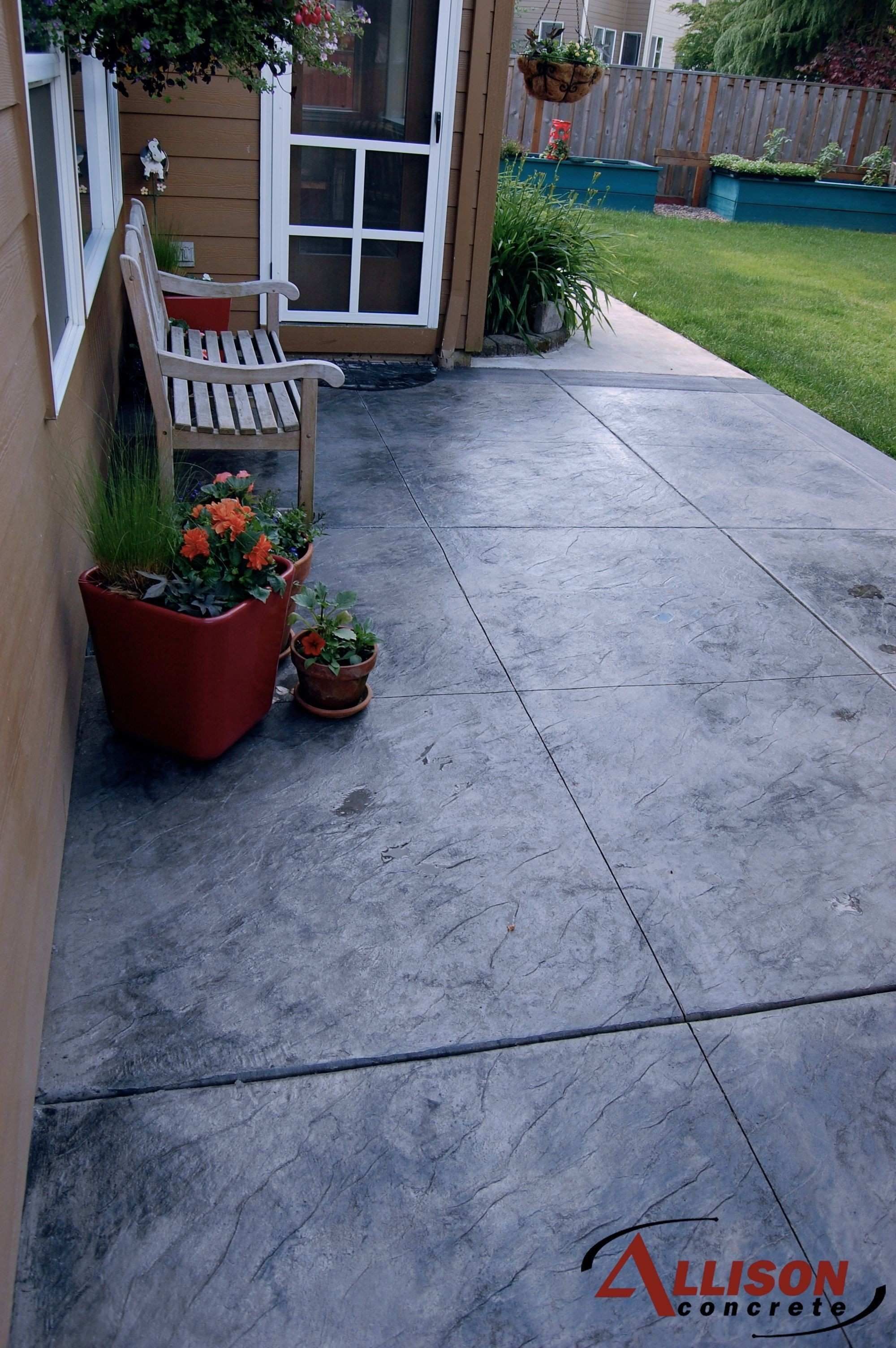 Patio Stamped Concrete Textured Decorative Luxury Patios
