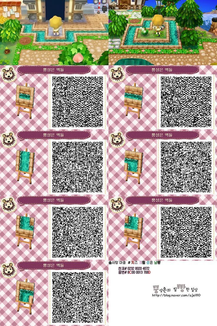 Acnl water paths Animal crossing qr, Animal crossing 3ds