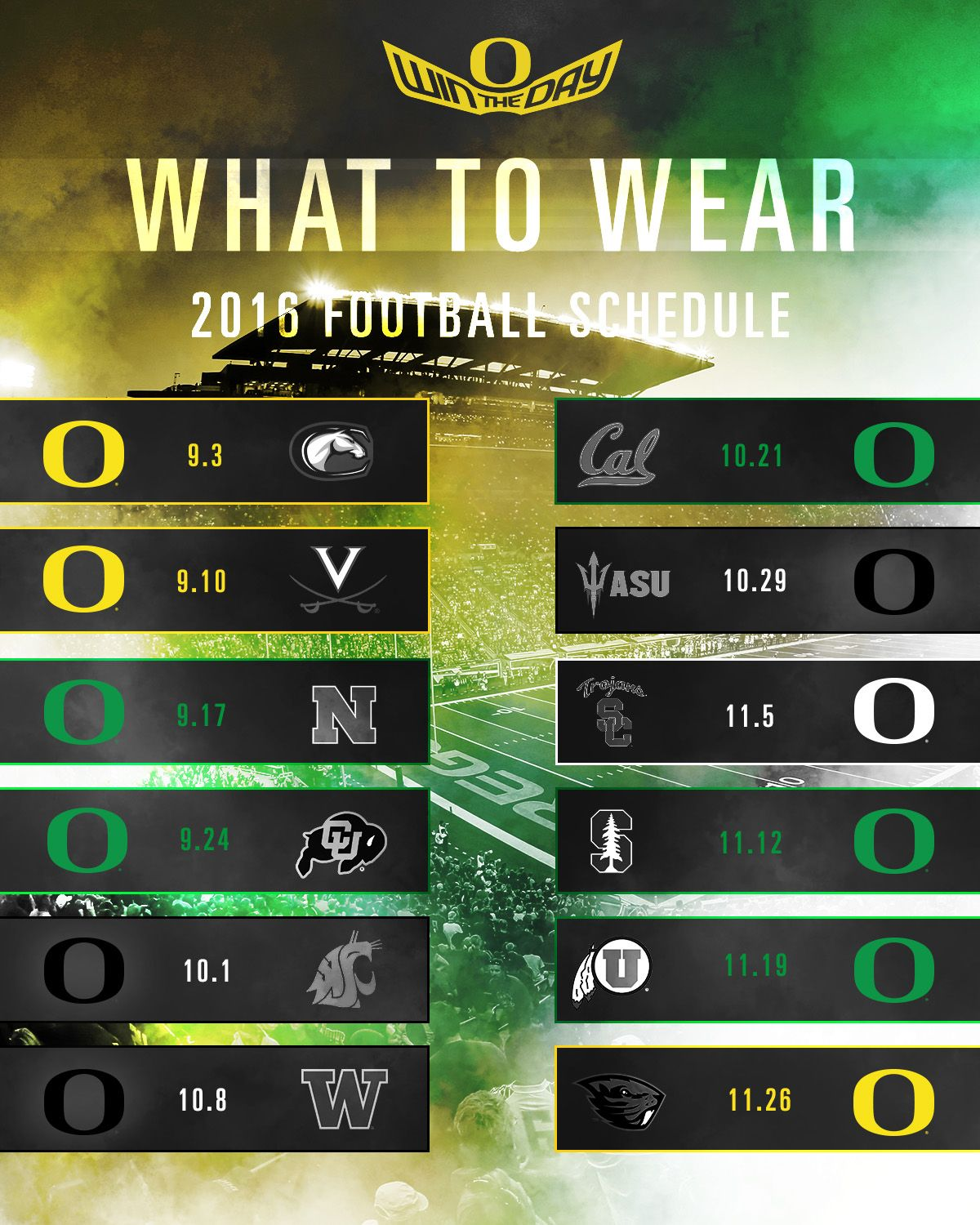 what to wear to oregon football games - goducks | the university
