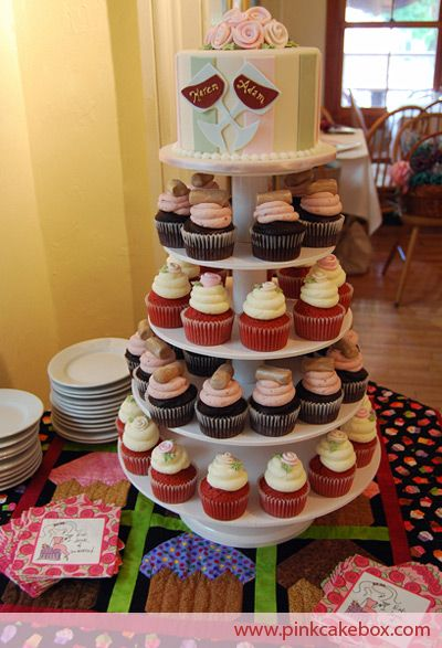 Wine Themed Bridal Shower Cupcake Stand Custom Baby Shower Cakes