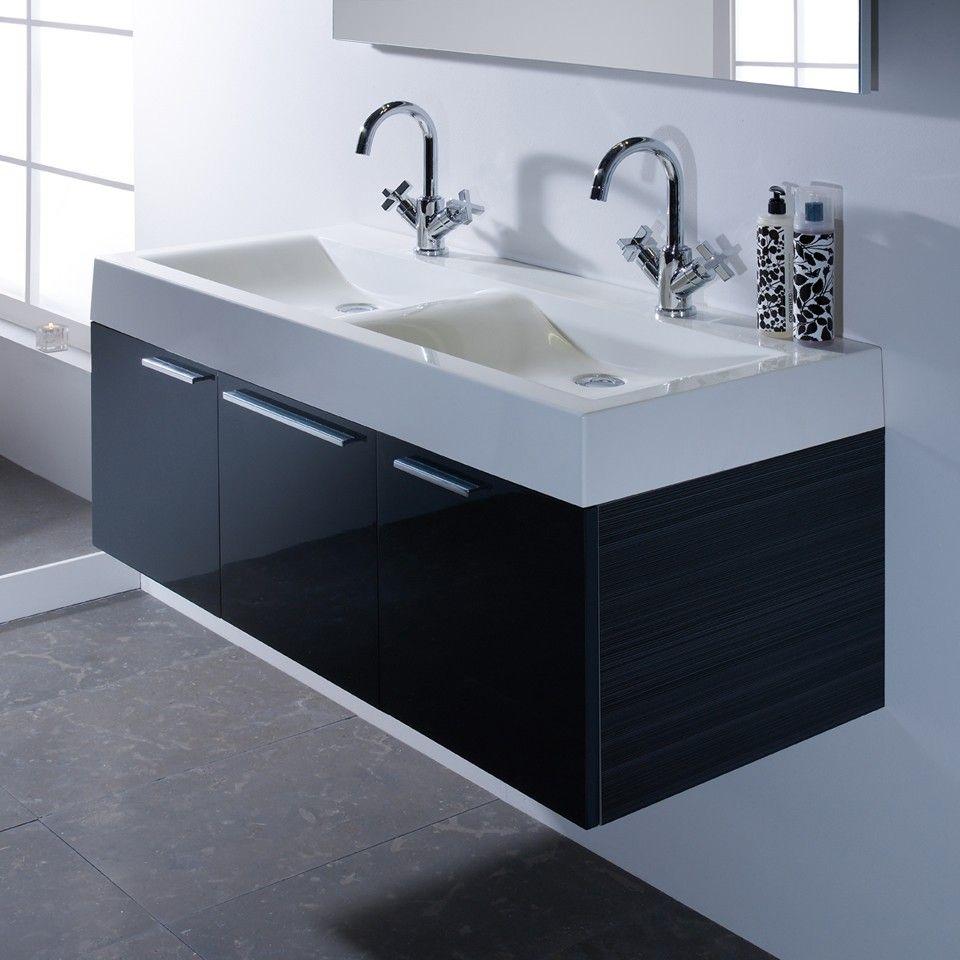 Roper Rhodes Envy 1200mm Double Basin Bathroom Vanity Anthracite
