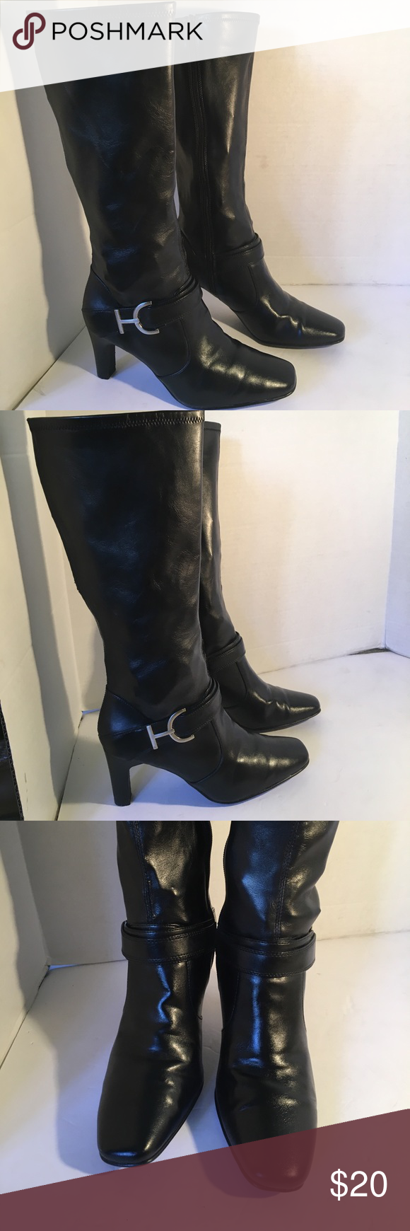Faux leather boots, Fashion