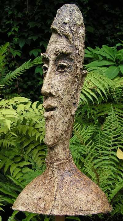 Fired paper clay sculpture by sculptor keith gretton titled