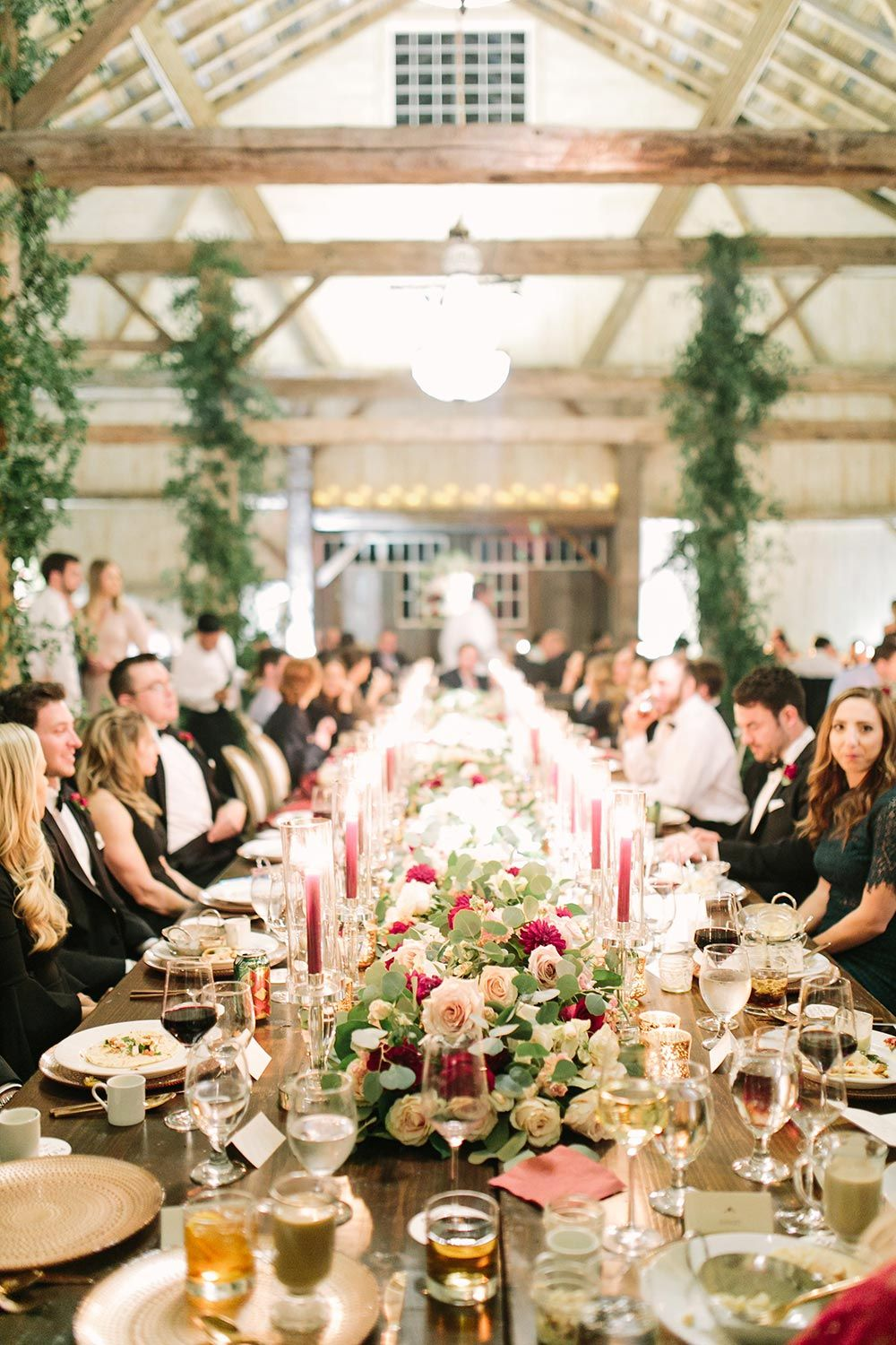 Classic elegance at this black tie wedding in the woods