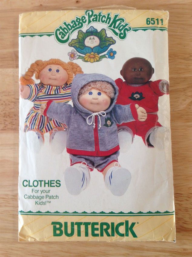 Butterick-Cabbage-Patch-Kids-Vintage-Pattern To make clothes for my ...