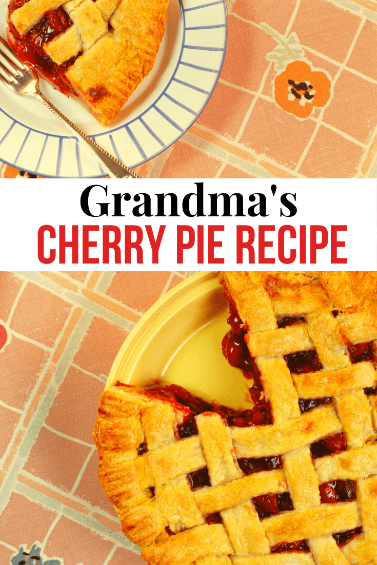 Grandmas Cherry Pie With Flaky Oil Pie Crust Recipe #recipeforpiecrust